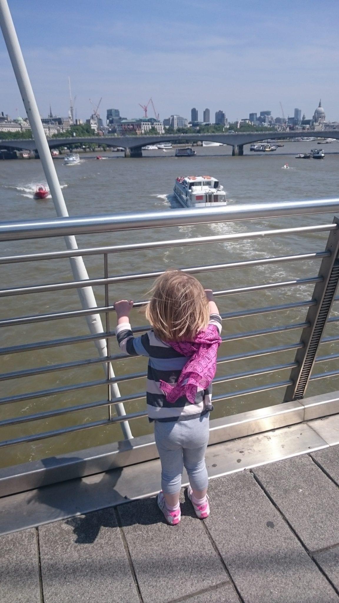 Crossing the Golden Jubilee Bridge
