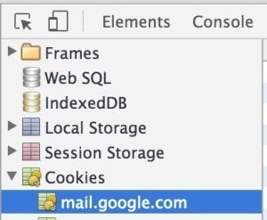Clear gmail cookies in Chrome