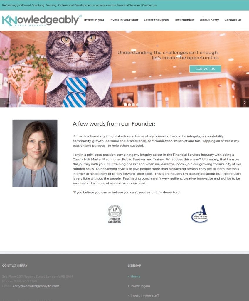 Knowledgeably Ltd - New Wordpress Website