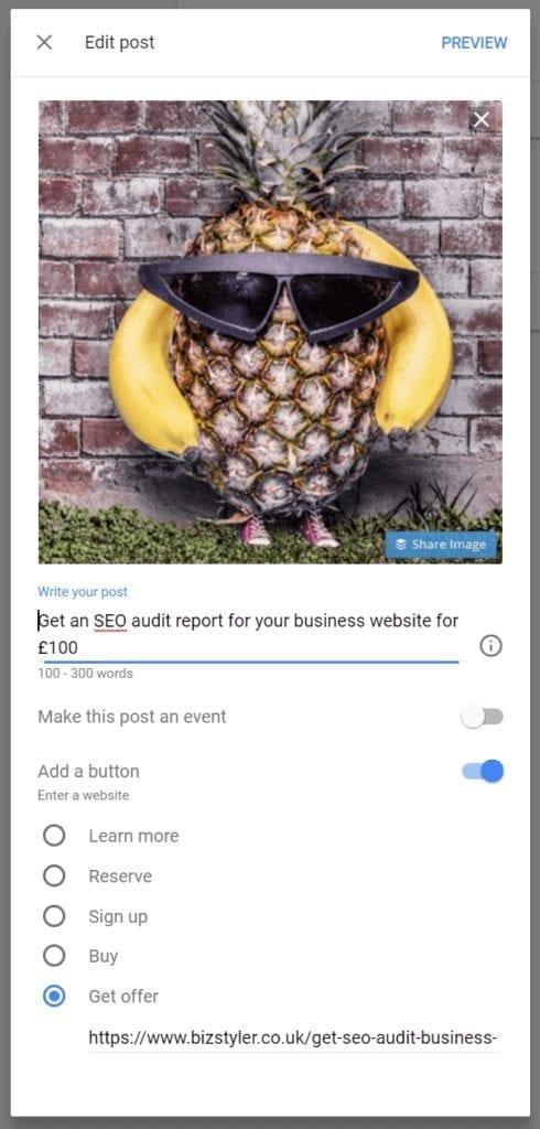 bizstyler google my business create post 01 490x1024 1