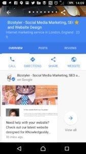 Google Posts - Mobile - Bizstyler