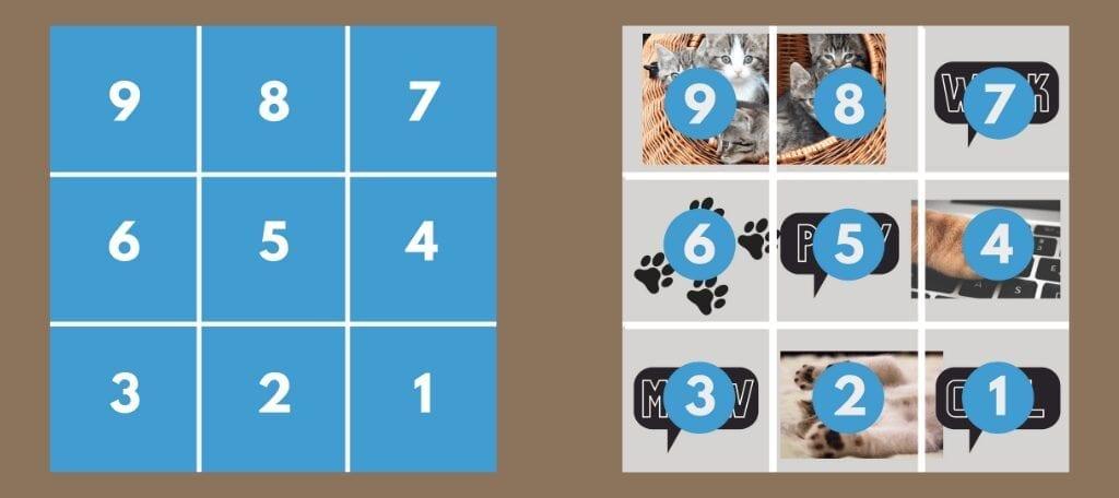 Instagram Puzzle Grid Posting Order - Bizstyler